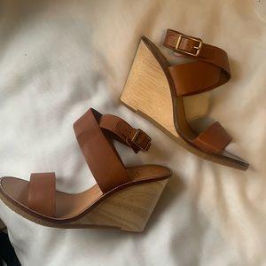 Dolce Vita Havana leather Wedge Sandal NWT SZ10
